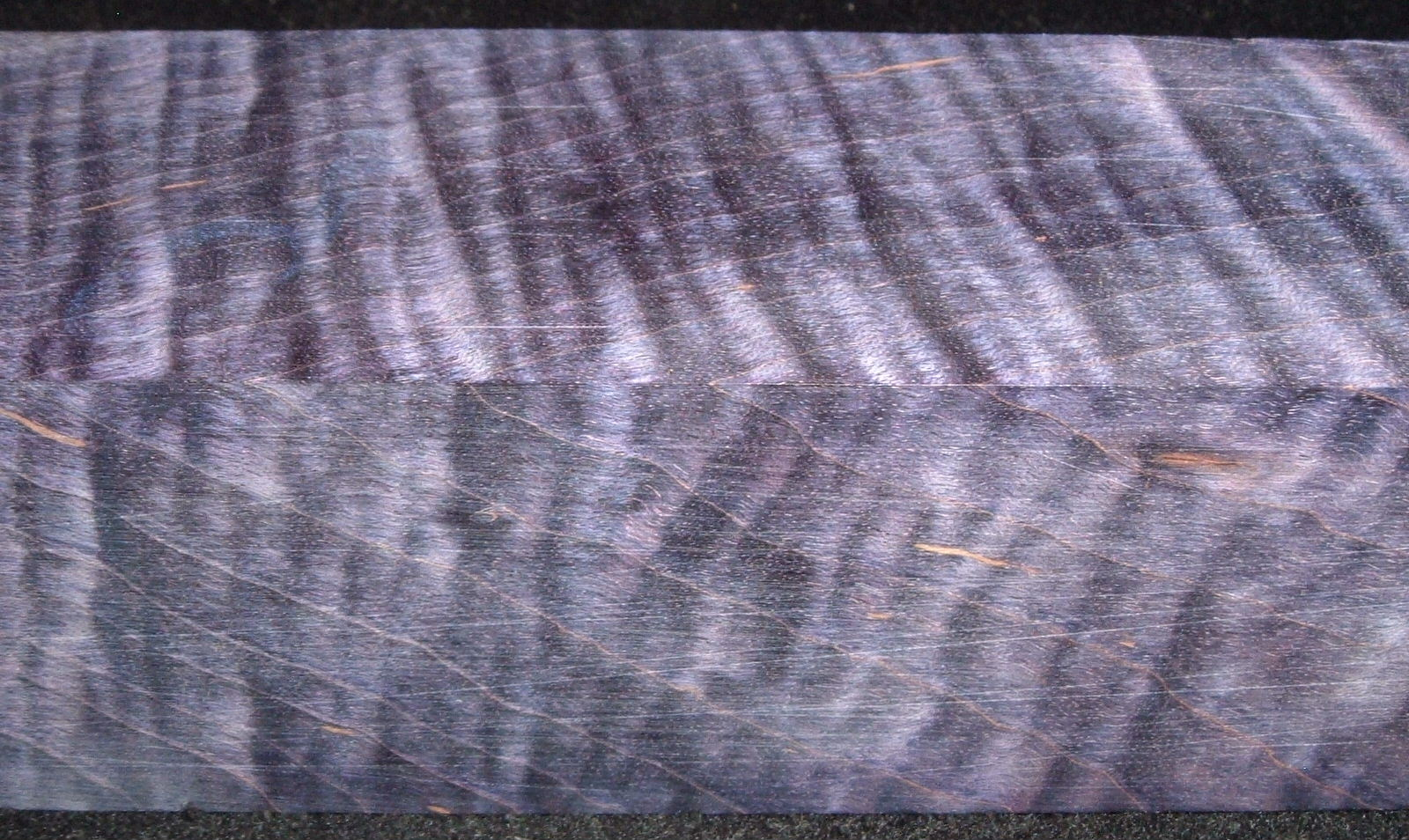 Z393, Curly Tiger Maple Dyed Stabilized, wood turning block, Purple, 1-3/4x1-3/4x6-1/2