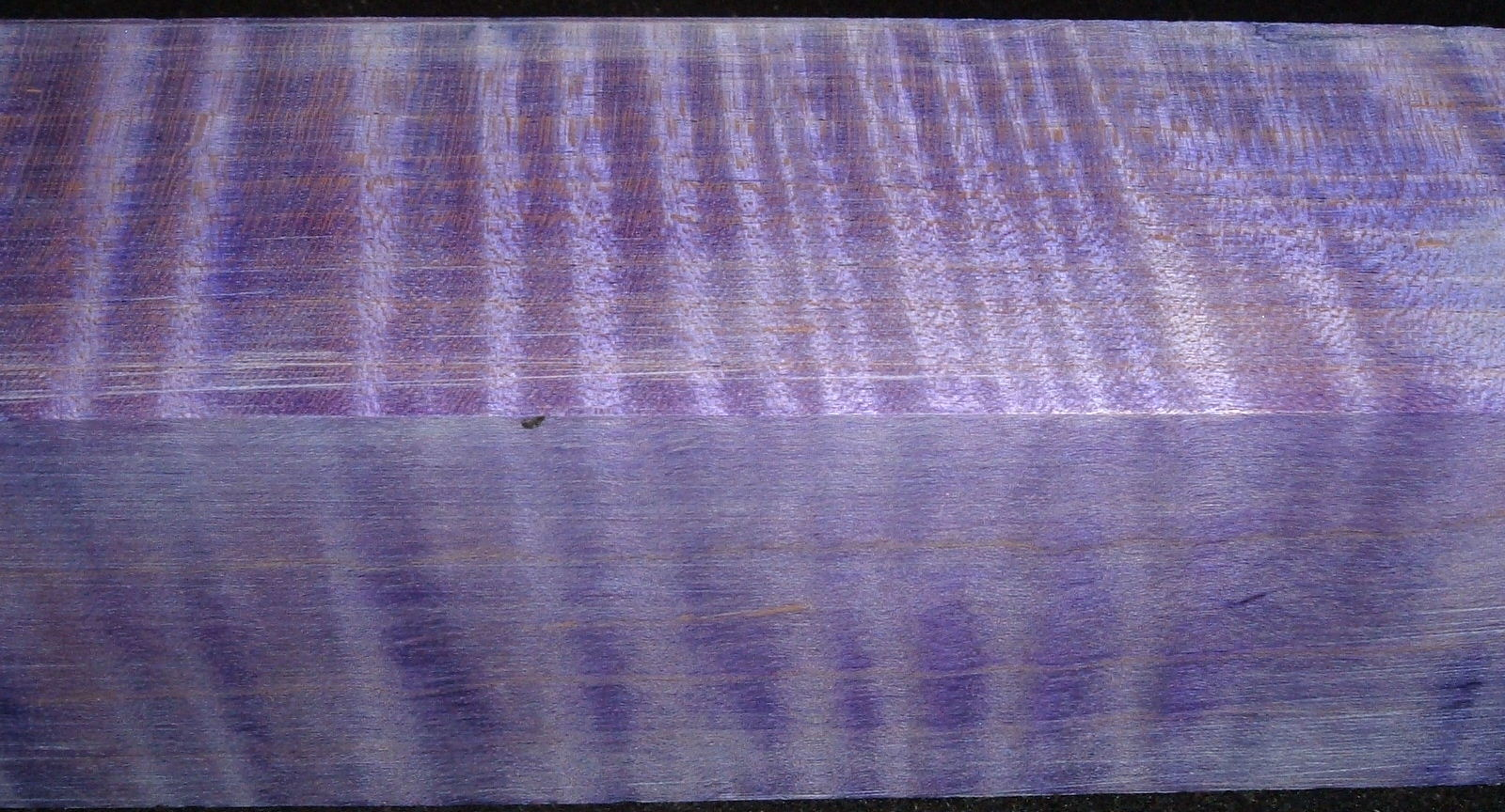 Z394, Curly Tiger Maple Dyed Stabilized, wood turning block, Violet, 1-7/8x1-7/8x6-1/2