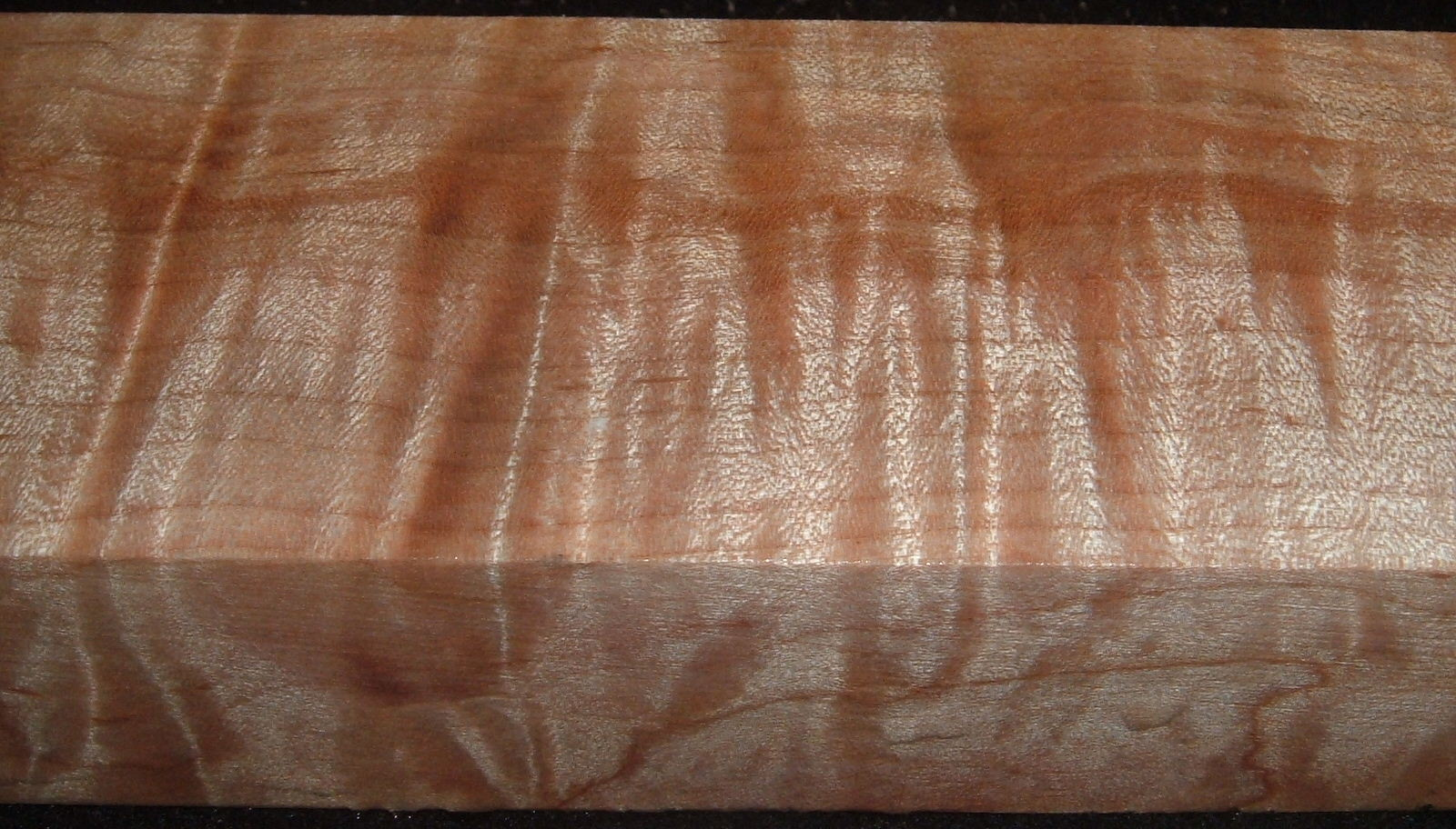 Z501, Curly Tiger Maple Dyed Stabilized, wood block scales/handle, Clear, 1x1-7/8x5-3/4