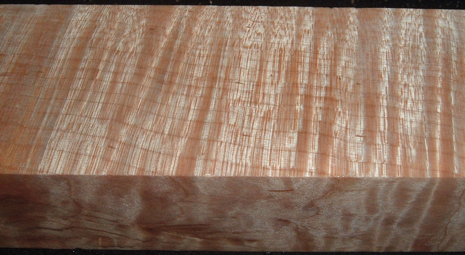 Z502, Curly Tiger Maple Dyed Stabilized, wood block scales/handle, Clear, 1-1/16x1-7/8x5-7/8