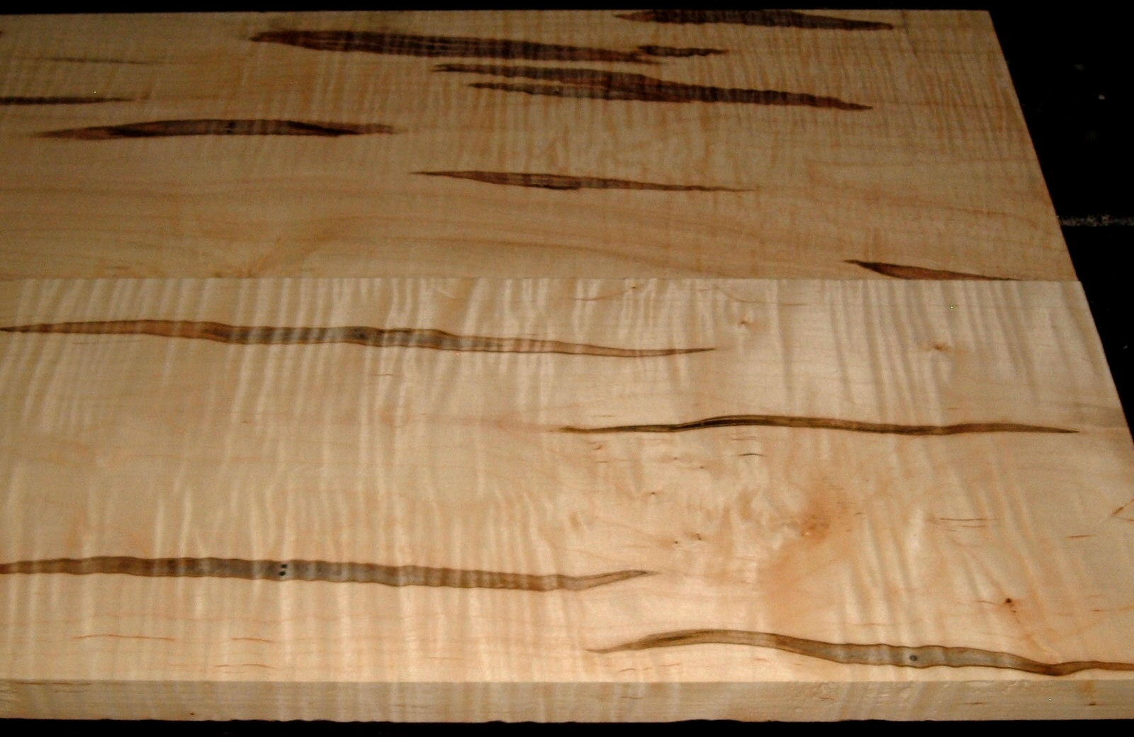 AM1912-135, 2 Bd Set, 7/8x8-1/4x44, 15/16x8-1/2x44, Curly Tiger Ambrosia Wormy Maple