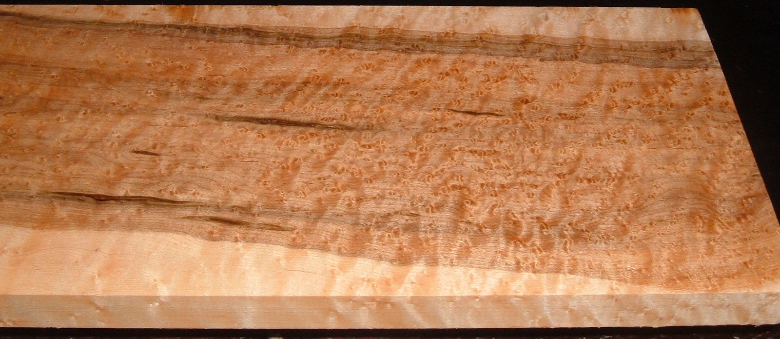 BEM2010-76, 7/8x7-1/4x47, Quilted Birdseye Hard Maple