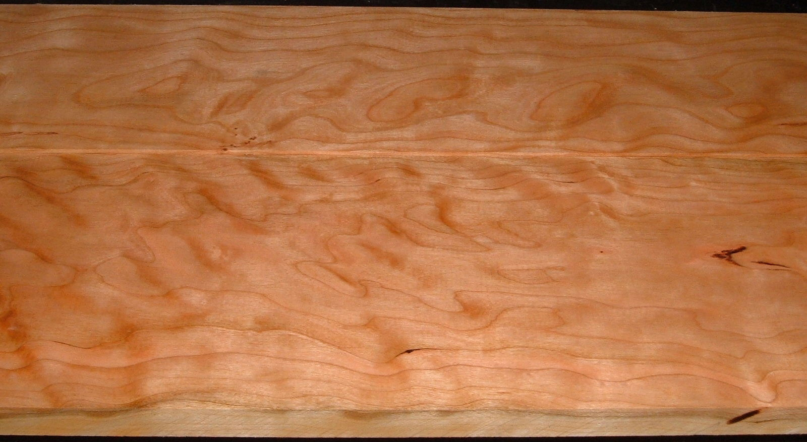 C2011-162, 2 bd, 13/16x6-3/4x47, 15/16x5-5/8x47, Curly Cherry, Cut from the same plank
