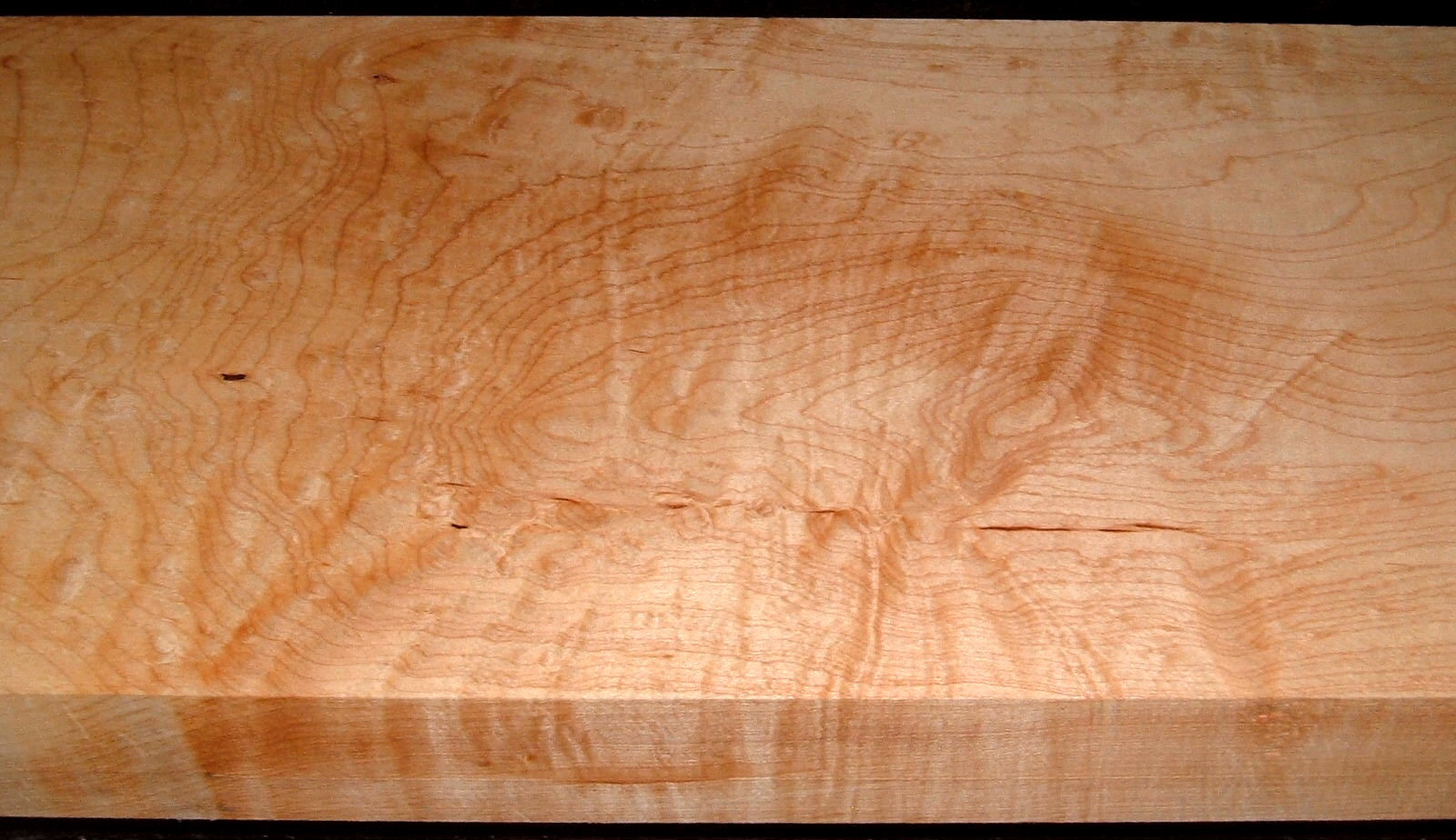 HM2007-107, 1-15/16x10-1/2x41, 8/4 Blistered Figured Hard Maple