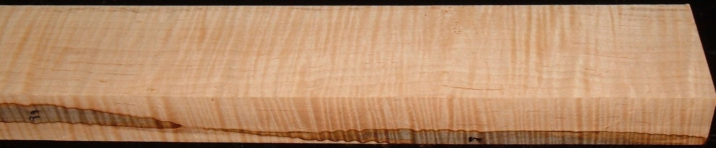 M2005-428JJ, 1-3/4x3-1/4x44, Curly Tiger Maple