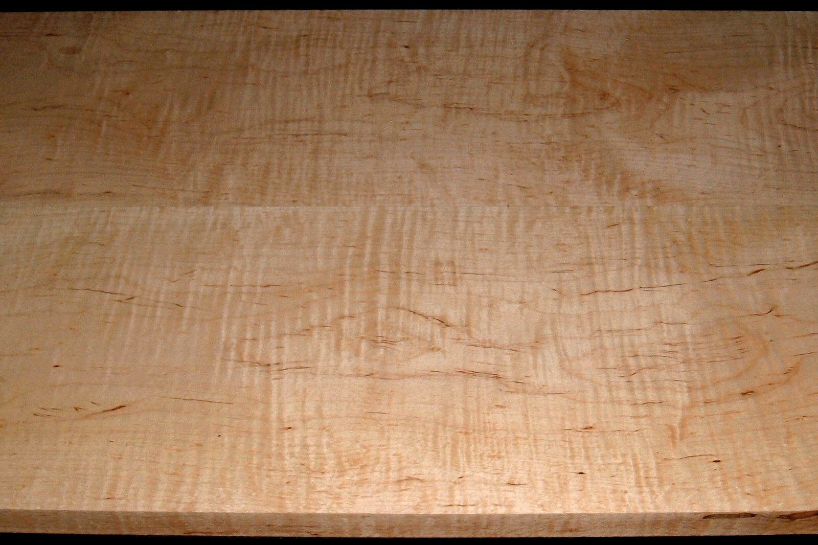 M2007-545, 2 Bd Set, 1-1/8x11-1/4x49, 1-1/16x11x49, Cut from Same Plank, Mineral Streaked Curly Maple