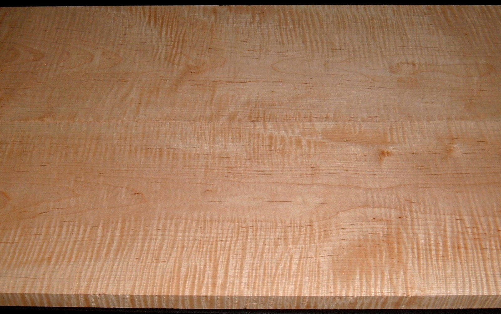 M2007-550L, 1-1/8x9-1/2x50 ,1-1/16x9-7/8x50, Curly Tiger Maple, Cut from Same Plank