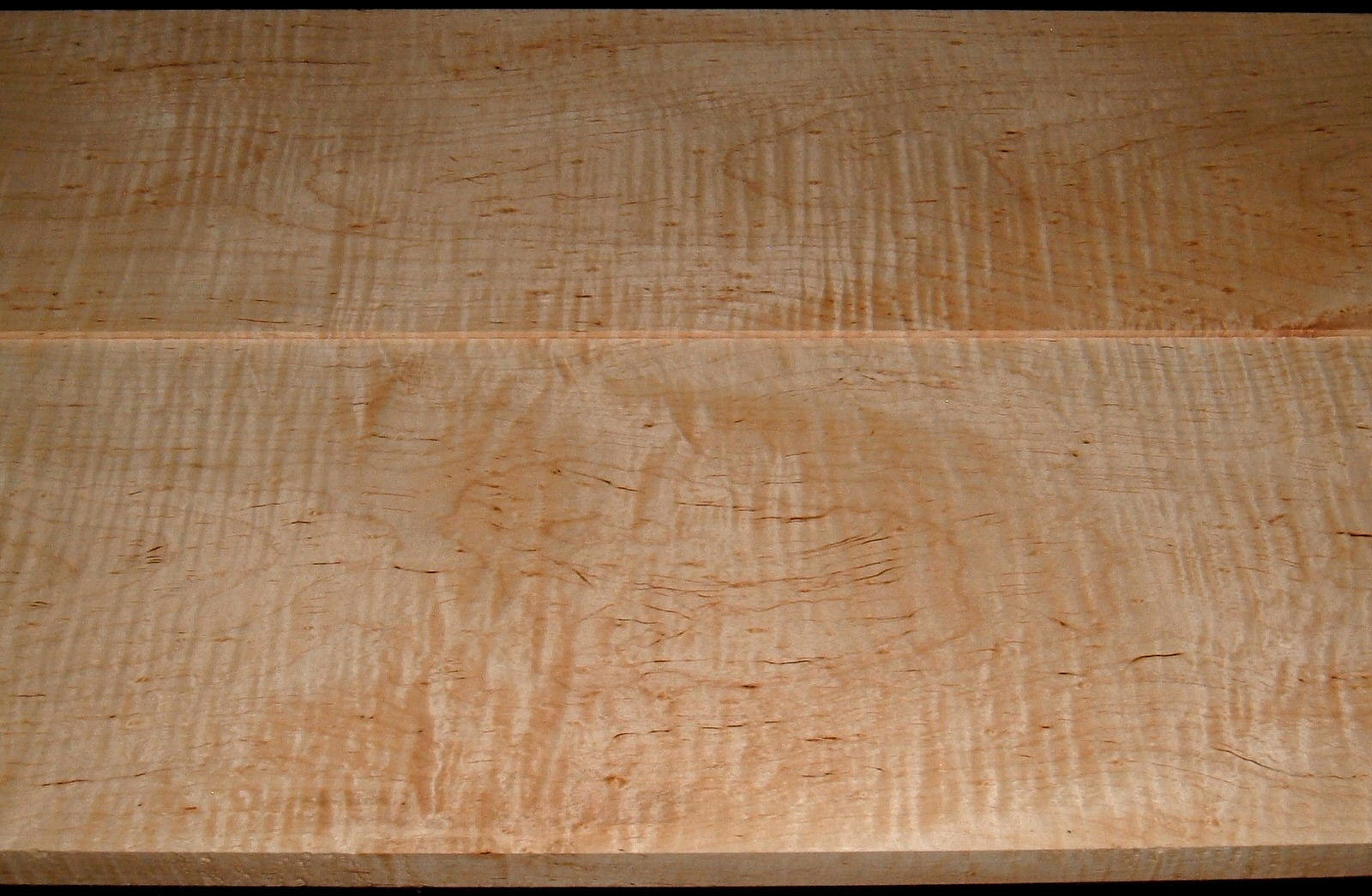 M2007-551, 1-3/16x9-1/4x41, 1-1/16x10-1/4x41, Curly Tiger Maple, Cut from Same Plank, Mineral Streaked Curly Maple