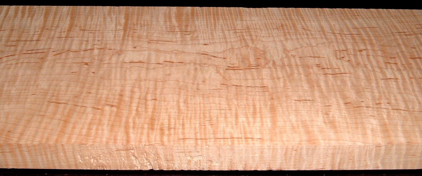 M2007-587L, 1-1/8x7-7/8x61, Mineral Streaked Curly Maple