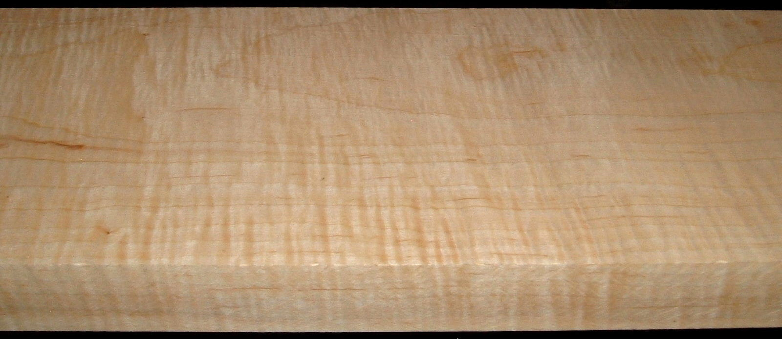 M2007-593, +1-1/16x8-3/4x58, Mineral Streaked Curly Maple
