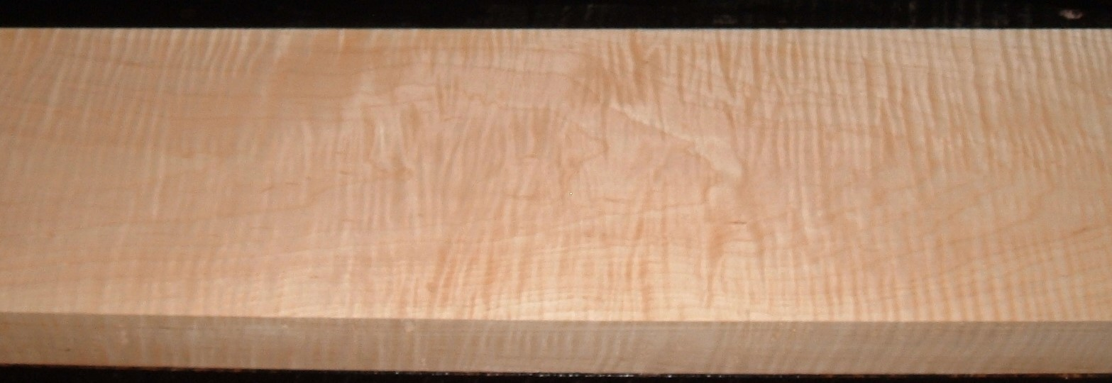 M2012-871JJ, 1-7/8x7-3/8x46, Curly Tiger Maple