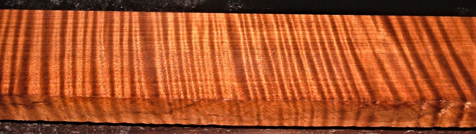 QRM2009-246JK, 1-1/4x3x49, Roasted Torrefied, Curly Tiger Quartersawn Maple