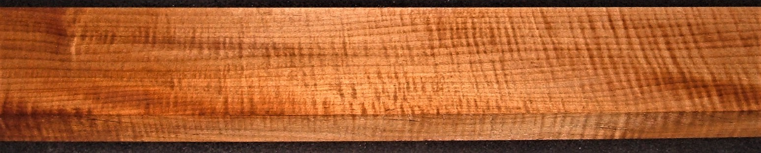 QRM2010-302JK, 1-1/4x4x47, Quartersawn Roasted Curly Maple