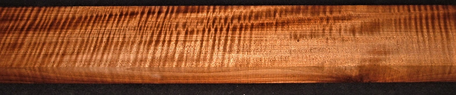 QRM2010-310JK, 1-5/16x4-3/4x45, Quartersawn Roasted Curly Maple