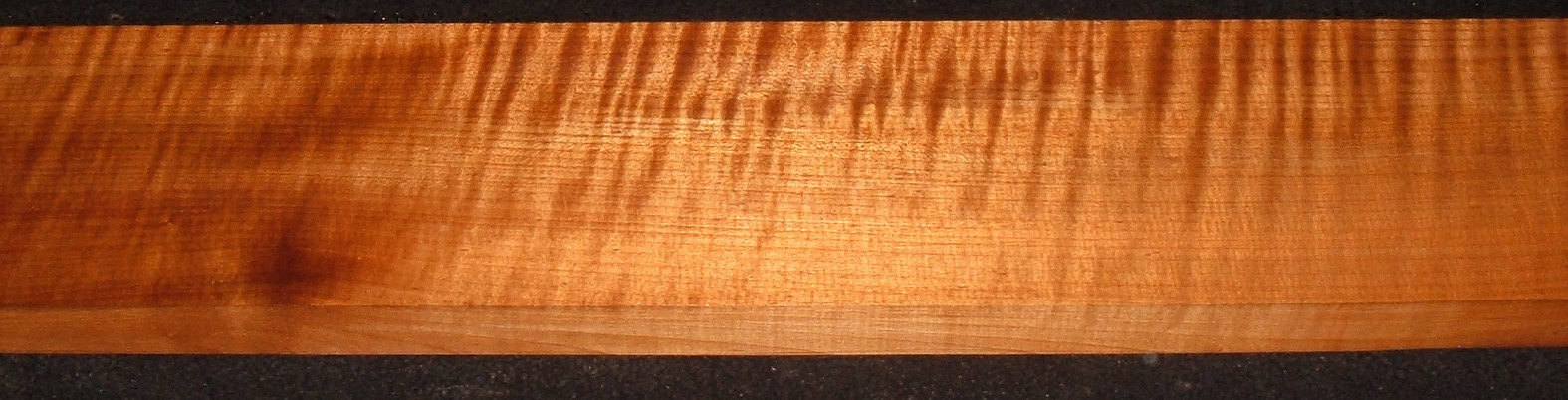QRM2010-344JK, 1-1/8x4-3/4x47, Quartersawn Roasted Curly Maple