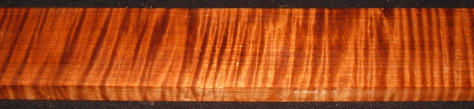 QRM2010-348JK, 1-1/16x4x47, Quartersawn Roasted Curly Maple