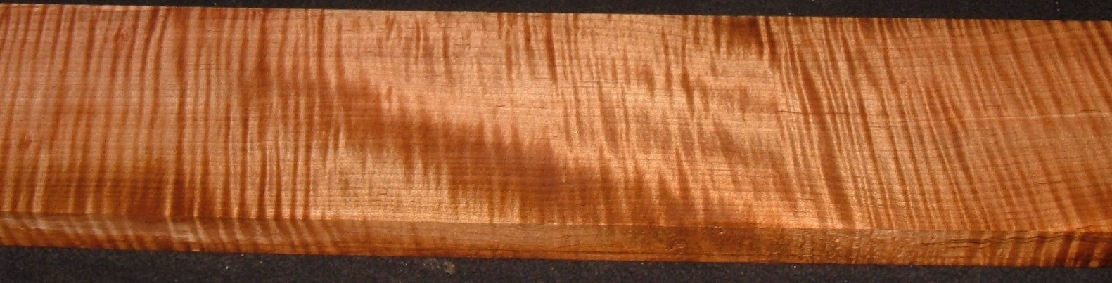 QRM2010-351JK, 1-3/16x5-1/4x47, Quartersawn Roasted Curly Maple