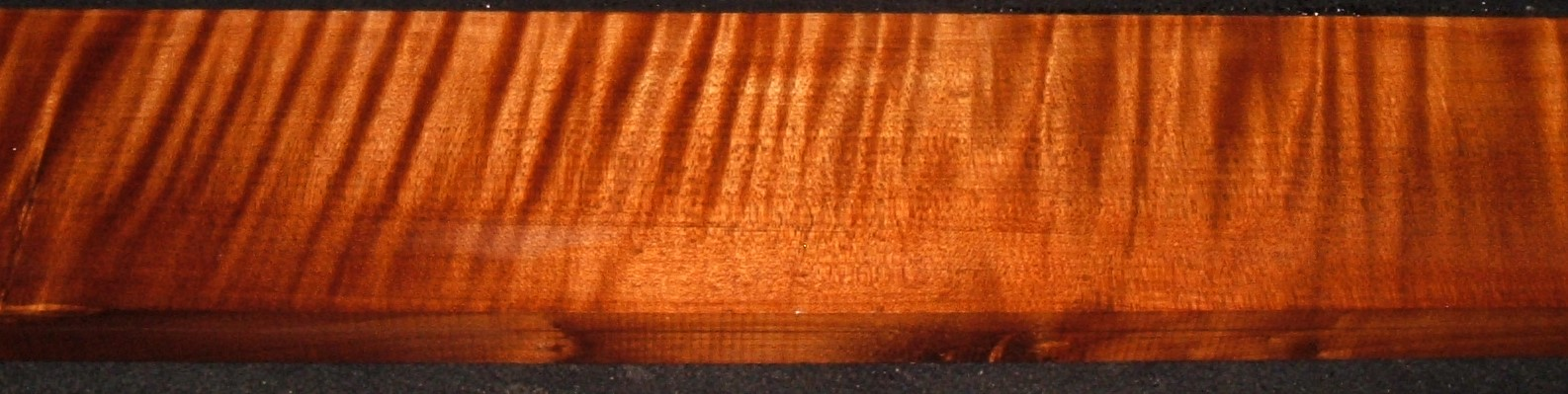 QRM2010-354JK, 1-1/4x5-3/8x47, Quartersawn Roasted Curly Maple