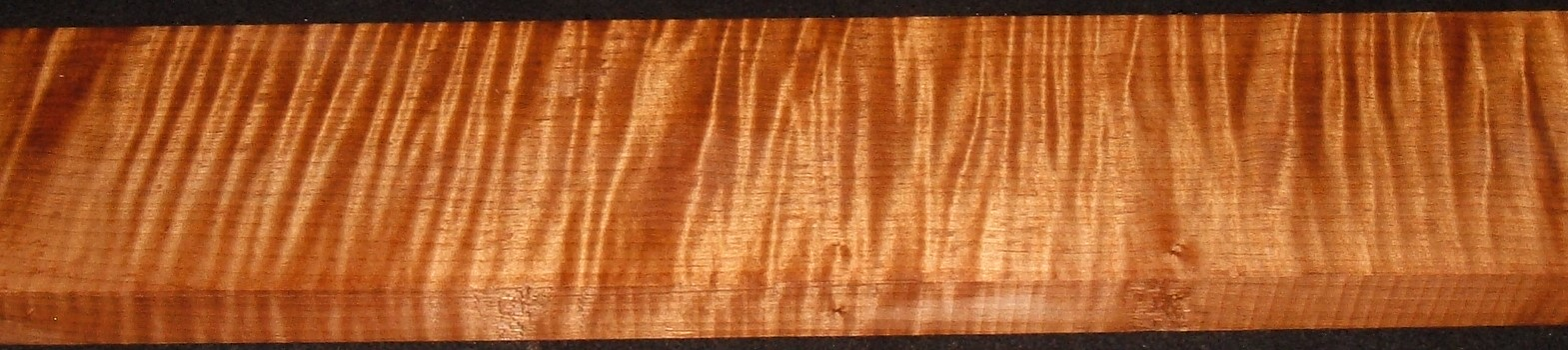QRM2010-357JK, 1-3/16x5-1/4x46, Quartersawn Roasted Curly Maple