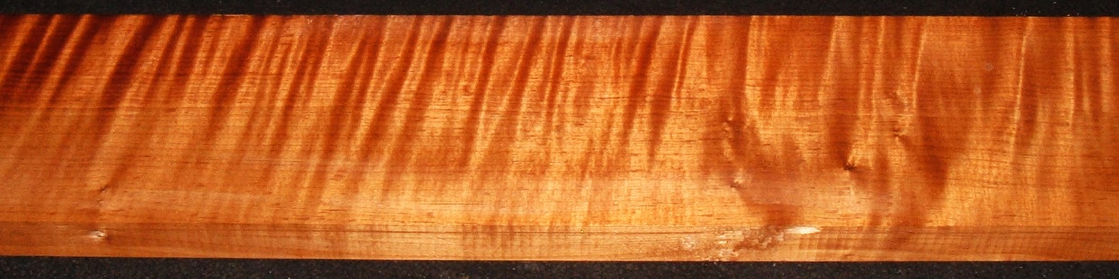 QRM2010-360JK, 1-1/8x5-7/8x47, Quartersawn Roasted Curly Maple