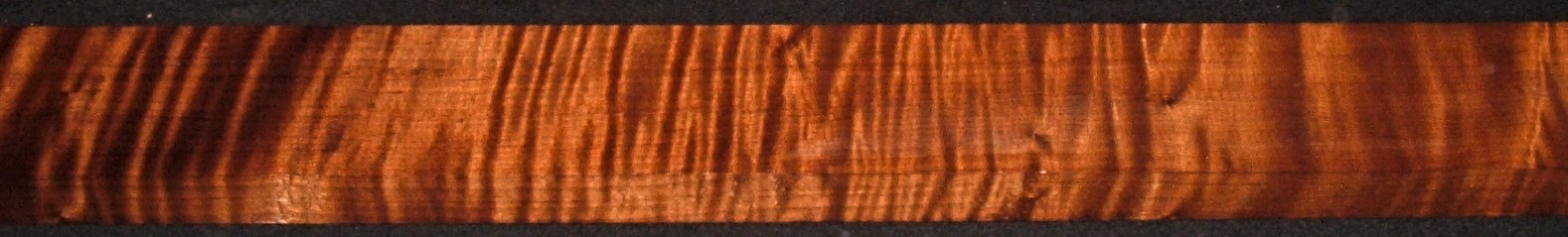 QRM2011-369JK, 1-3/16x3x47, Quartersawn Roasted Curly Maple