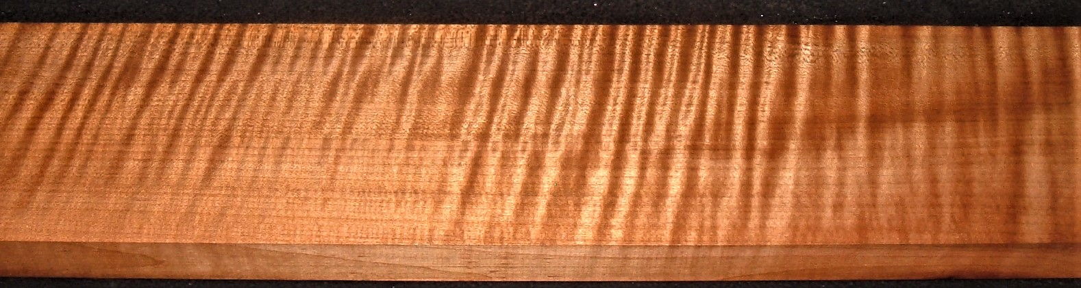 QRM2010-376JK, 1-1/4x5x42, Quartersawn Roasted Curly Maple