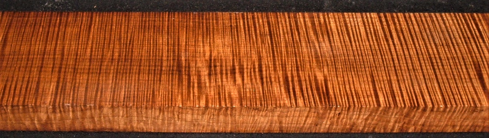 QRM2012-391JK, 1-7/8x5-3/4x44, Quartersawn Roasted Curly Maple