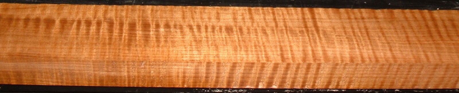 QRM2101-14JK, 1-1/4x2-5/8x46, Quartersawn Roasted Curly Maple