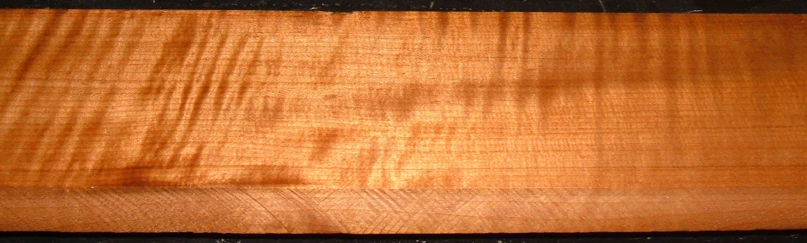 QRM2101-6JK, 1-1/8x4-3/8x46, Quartersawn Roasted Curly Maple