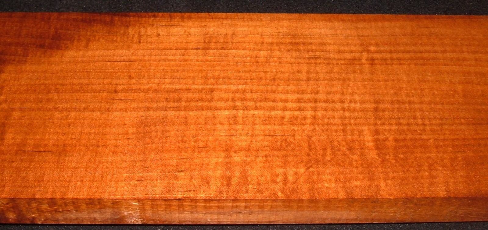 QRM2103-103JK, 1-1/8x6-1/8x34, Roasted Torrefied, Curly Tiger Quartersawn Maple
