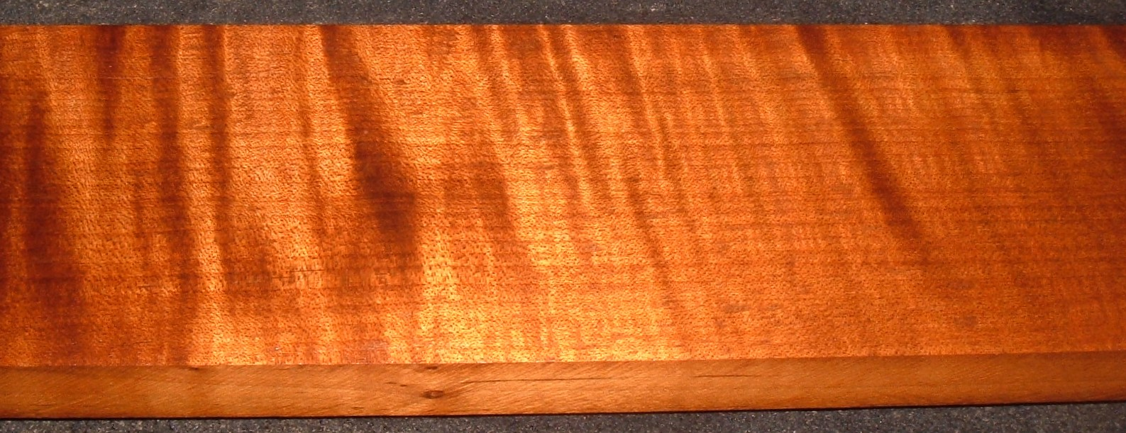 QRM2103-108JK, 1x4-1/2x43, Roasted Torrefied, Curly Tiger Quartersawn Maple