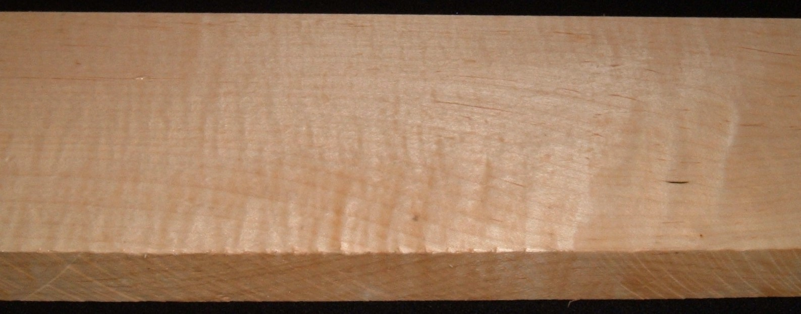 QS2104-43JK, 1-1/4x4x47, Quartersawn Curly Maple