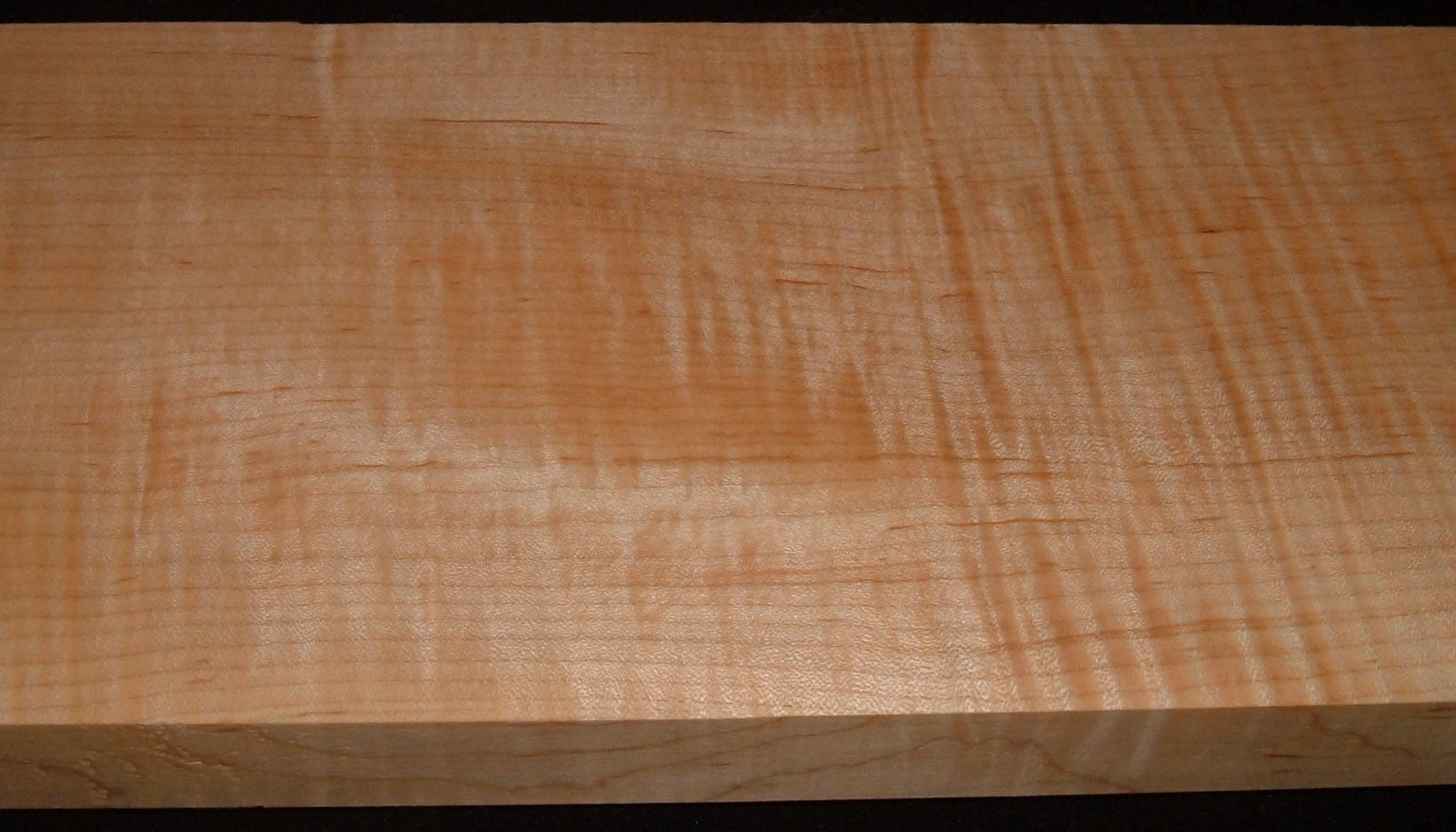 QS2104-55JK, 1-5/16x6-3/4x45, Quartersawn Curly Maple