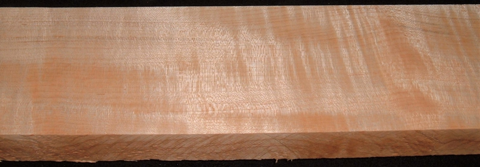 QS2104-57JK, 1-3/16x3-7/8x47, Quartersawn Curly Maple