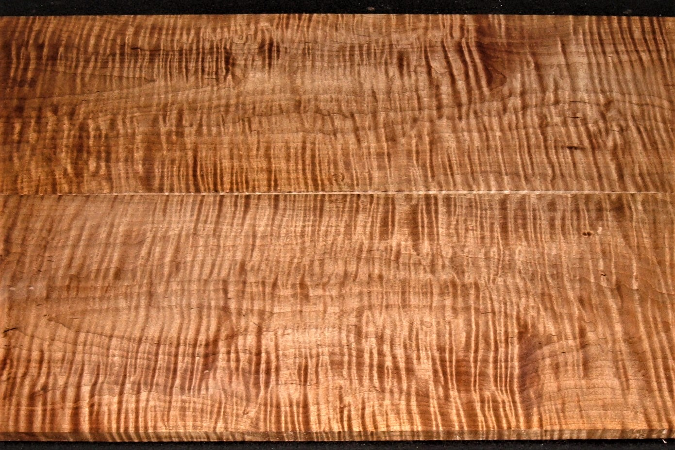 RBM2012-3JJ, 1/2x7-3/4x23, 1/2x7-3/4x23, Curly Tiger Maple, Roasted Book Match