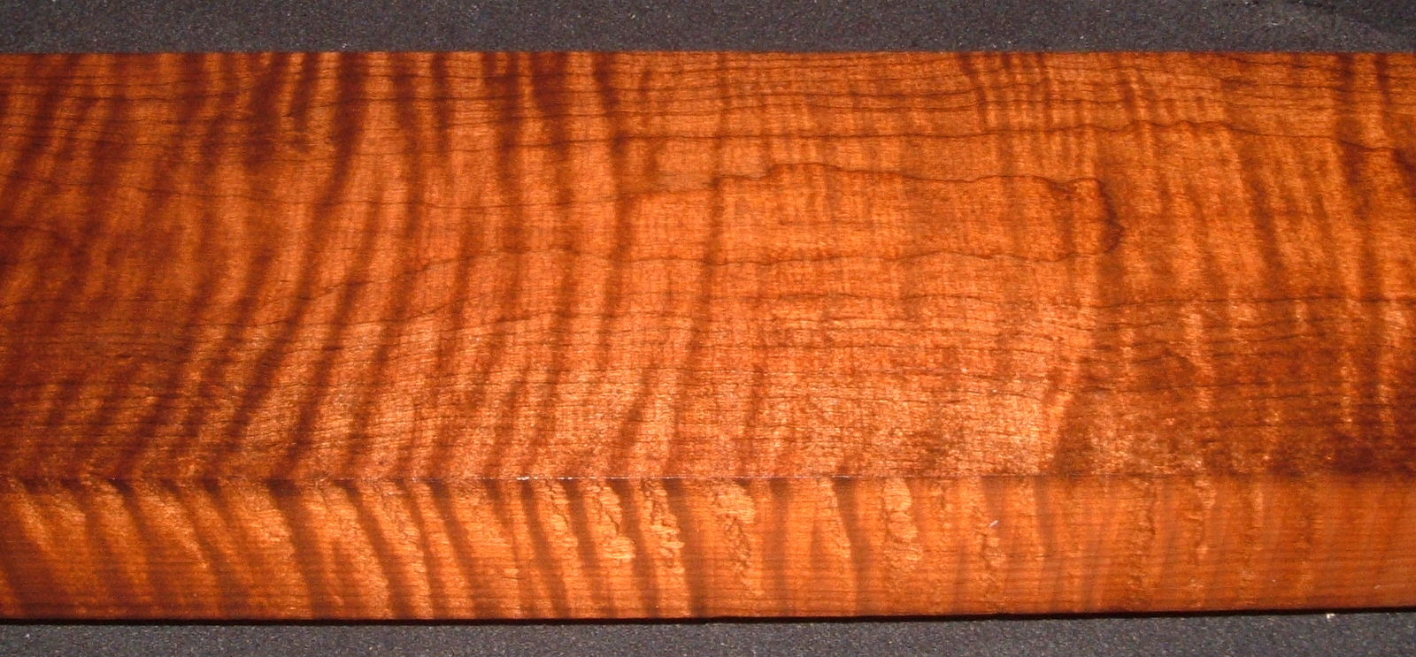 RM2006-173, 2-1/16x6-1/8x39, Roasted Curly Maple