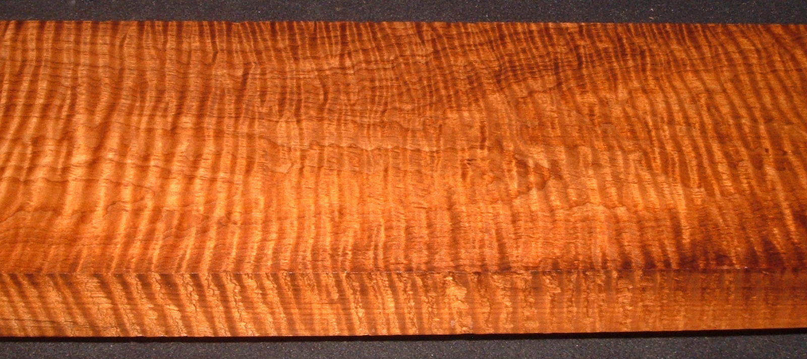 RM2006-177, 1-3/4x7x53, Roasted Curly Maple