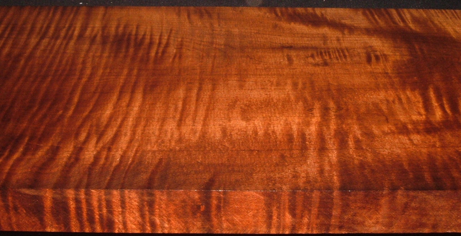 RM2006-195, +1-1/2x12-1/2x47+, Roasted Curly Maple