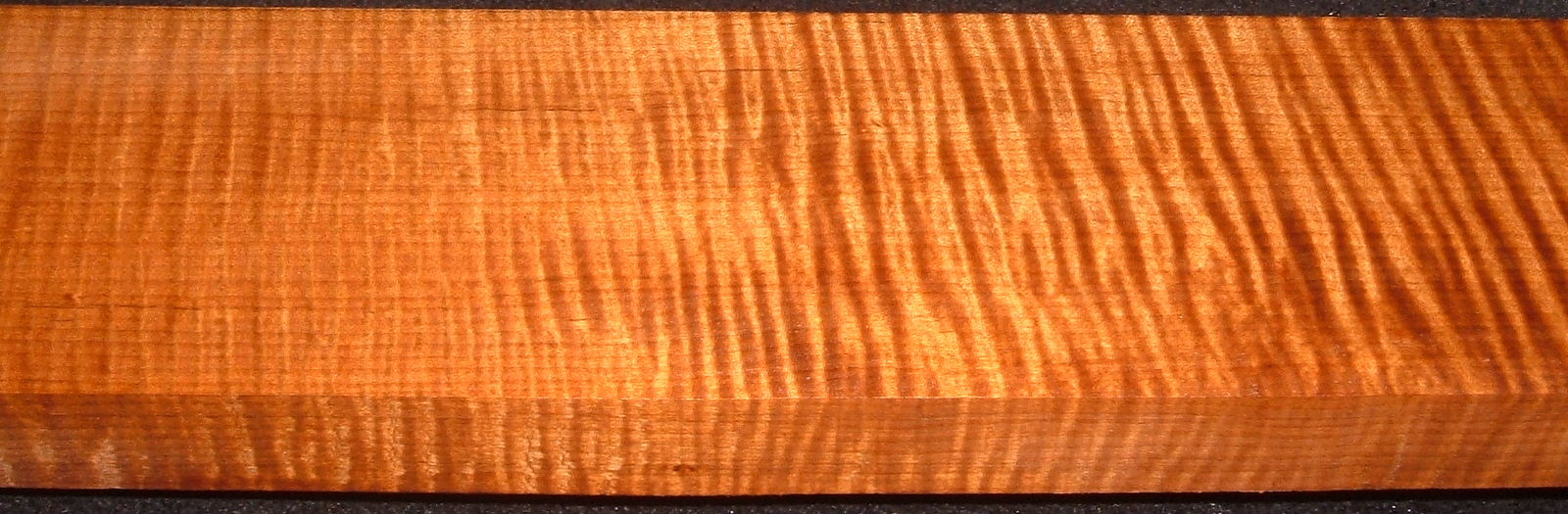 QRM2006-198, 1-1/16x3-5/8x34, Quartersawn Roasted Curly Maple