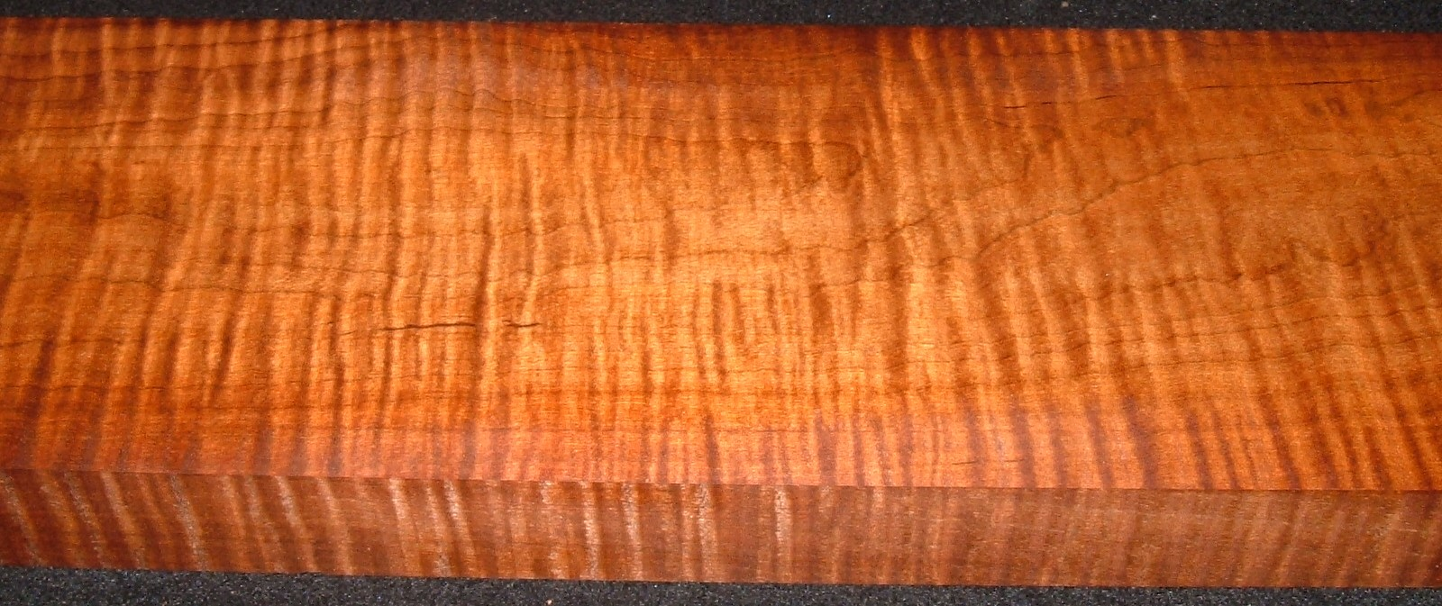 RM2104-118JJ, 1-1/2x5-7/8x40, Roasted Curly Maple