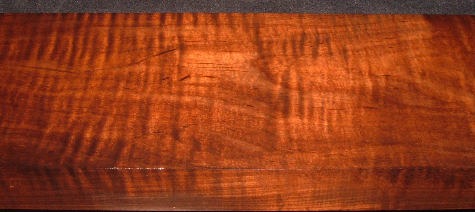 RM2104-121, 1-3/4x6-1/4x37, Roasted Curly Maple