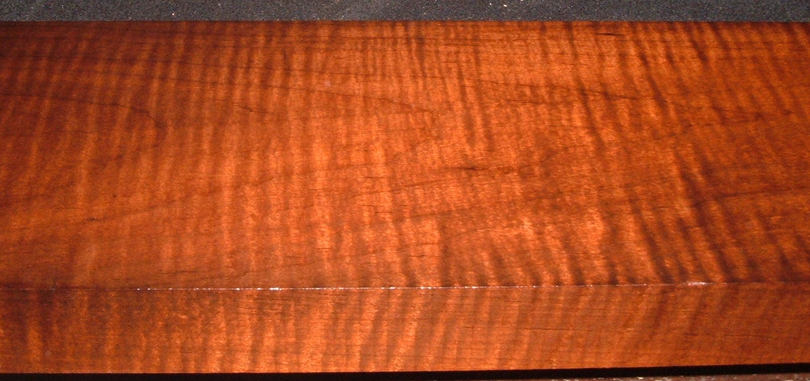 RM2104-123, 1-5/8x6-1/4x42, Roasted Curly Maple