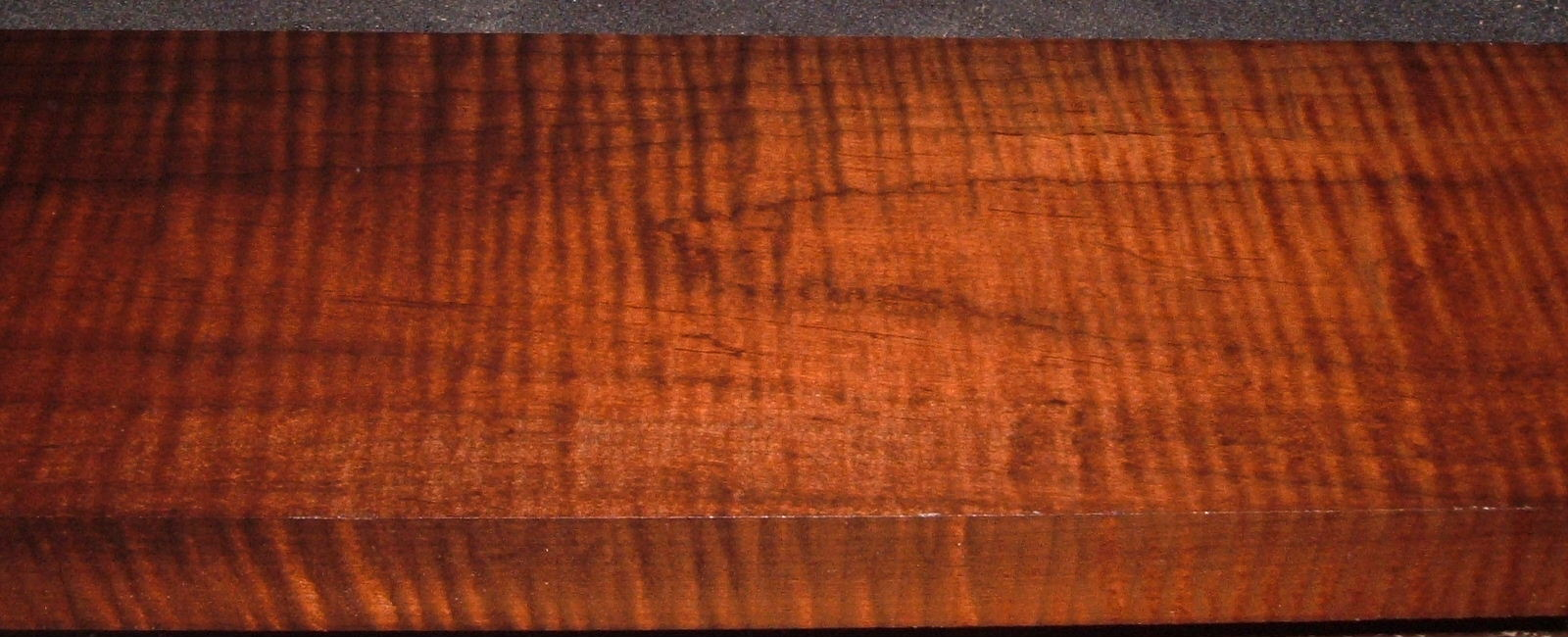 RM2104-124, 1-9/16x6x48, Roasted Curly Maple