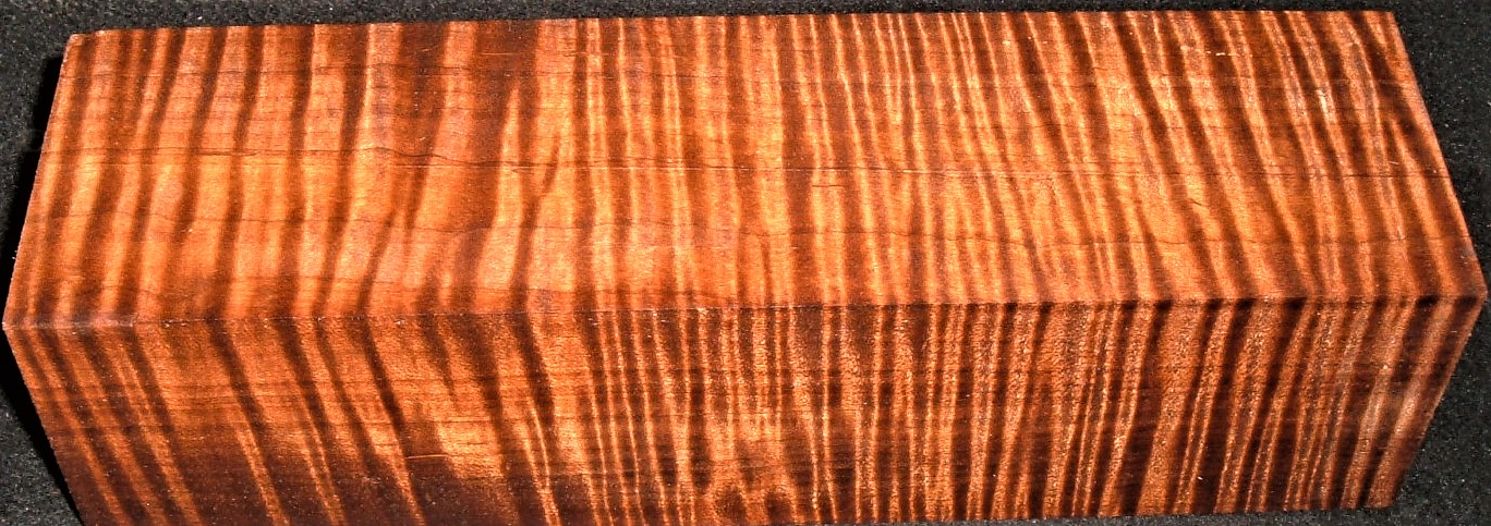 RMT-2594JJ, 3x2-3/4x10-7/8, Torrefied Roasted, Curly Tiger Maple, Turning Block