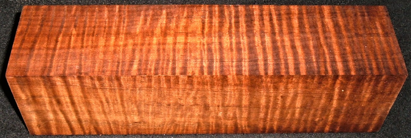 RMT-2597JJ, 3-1/16x2-3/4x10-7/8, Torrefied Roasted, Curly Tiger Maple, Turning Block