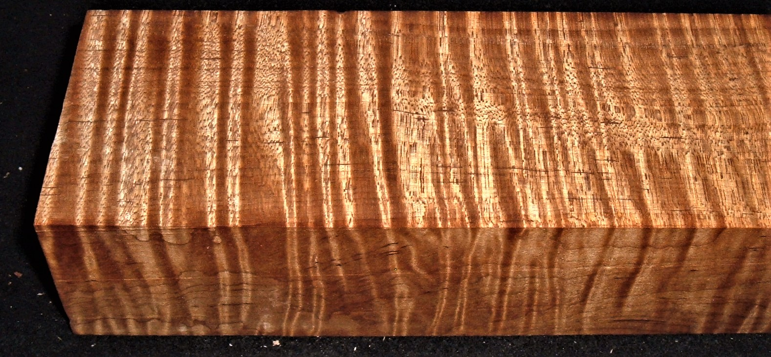 RMT-2601JJ, 2-1/4x3x15, Torrefied Roasted, Curly Tiger Maple, Turning Block