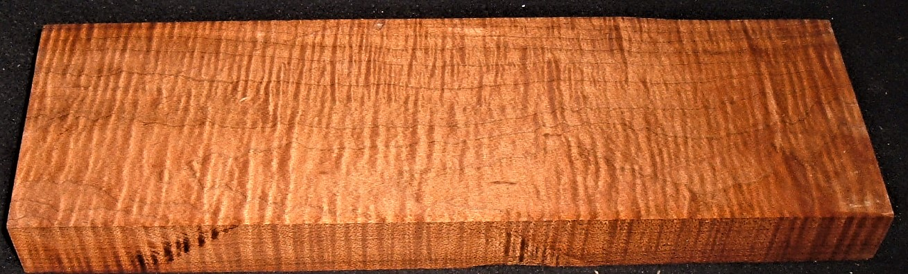 RMT-2602JJ, 1-1/8x4x12, Torrefied Roasted, Curly Tiger Maple, Turning Block