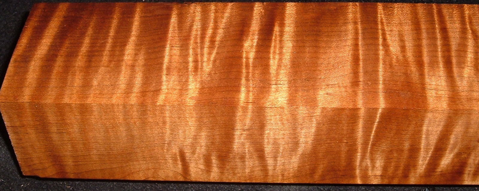 RTB-11, 2-3/16x 2-3/4x21, Torrefied Roasted, Curly Tiger Maple, Turning Block