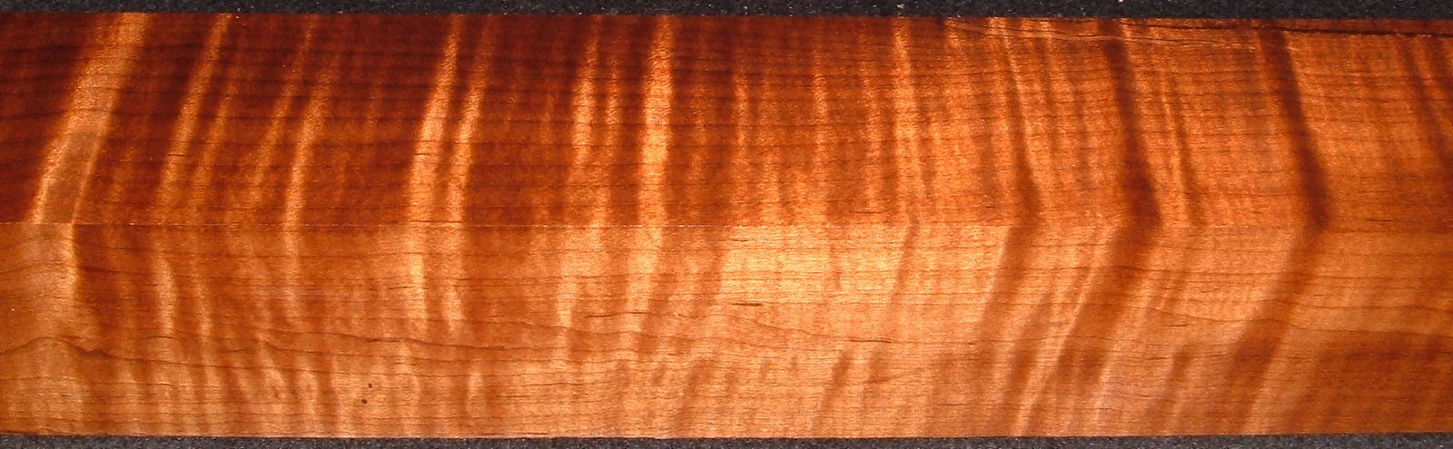 RTB-1, 2-3/8x2-5/8x40, Roasted Torrefied, Curly Tiger Maple Turning Block