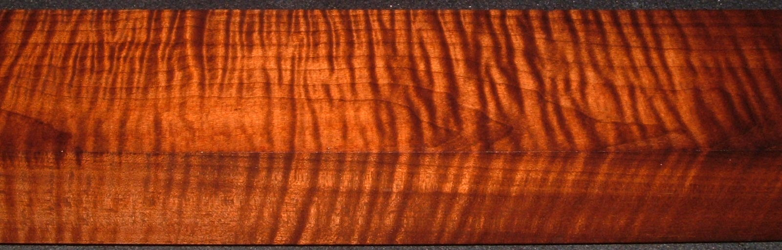 RTB-5, 2-7/16x3-3/4x48, Roasted Torrefied, Curly Tiger Maple Turning Block